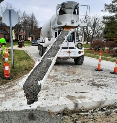 Boone Ready Mix Pouring City Street
