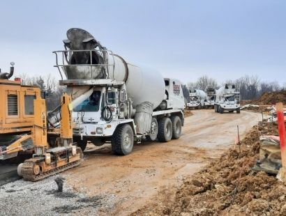 Boone Ready Mix on Job Site